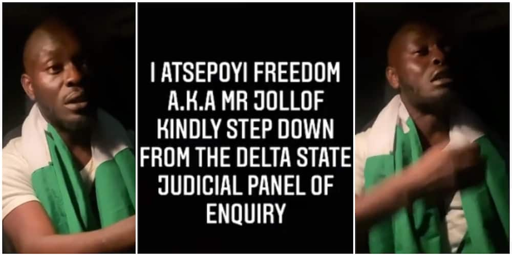 Mr Jollof steps down from Delta state Judicial Panel of Enquiry