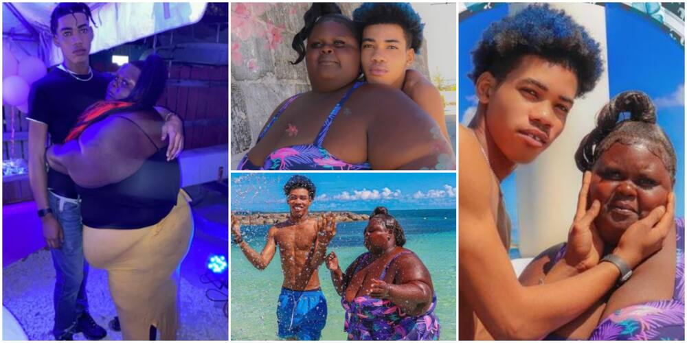 Reactions as Man Shows Off Plus-Sized Girlfriend, Says He Loves Her Heart, Not Her Looks