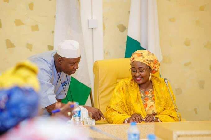 Da duminsa: Bayan watanni 6, Aisha Buhari ta dawo gida Najeriya