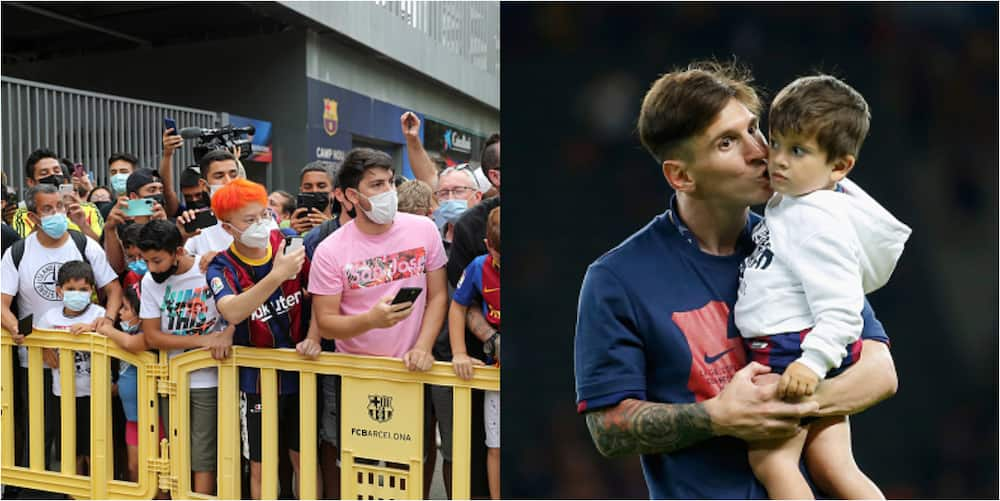 Lionel Messi's son fires back at Barcelona fan who insulted him outside his home