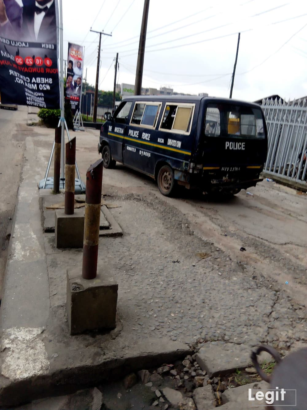 Image result for images of Heavy police presence at Lagos COZA church
