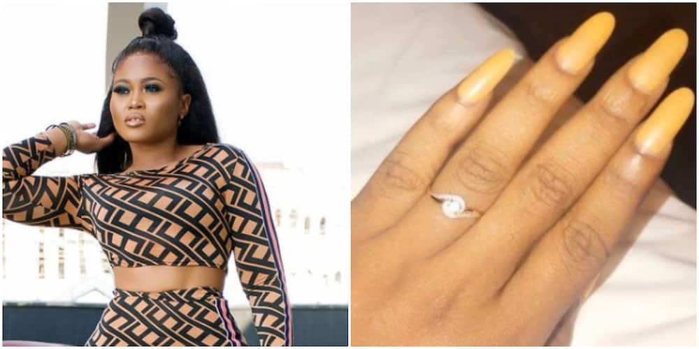 Actress Pat Ugwu flaunts ring as she excitedly announces engagement, assures fans it's not 'April fool' joke