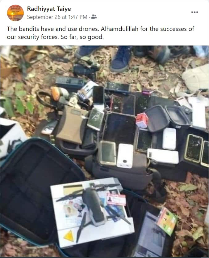 Fact-check: Picture depicting bandits using drones not from Nigeria