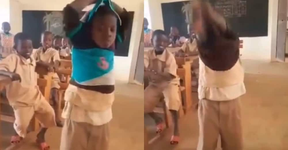 Schoolboy Stirs Massive Reactions as he Wears Many Clothes Under uniform to Protect Himself Against Cane