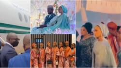Presidential wedding of the year: 1st photos, videos of Yusuf Buhari's Fathia, Osinbajo, VIP guests arrive