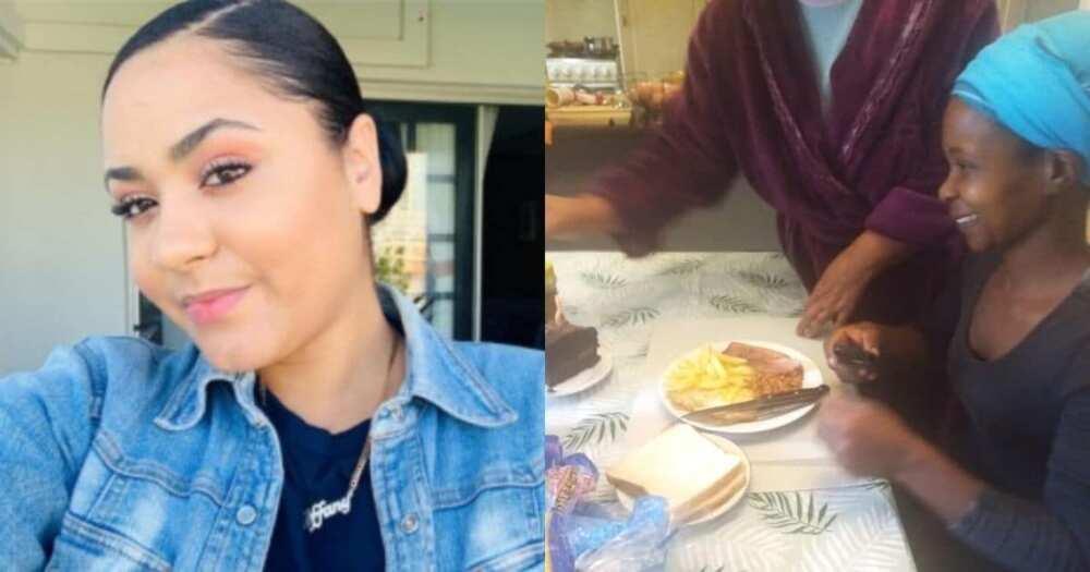 Boss serves helper breakfast to celebrate her birthday (Export)
