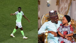 Super Eagles captain Ahmed Musa posts adorable photo to celebrate daughter's birthday