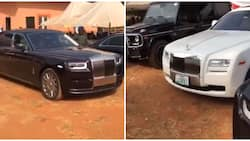 Moment rich boys storm their village with Rolls Royce and Benz to celebrate Christmas, Twitter users react (video)