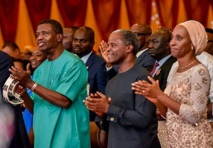 Yemi Osinbajo and adeboye