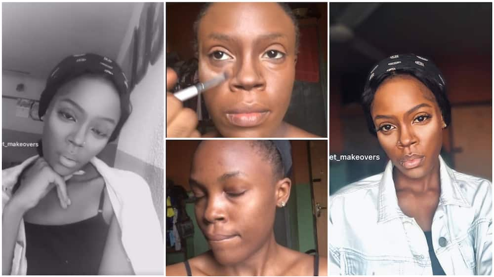 A collage of the artist looking like Tiwa Savage. Photo source: Facebook/Richard Jane