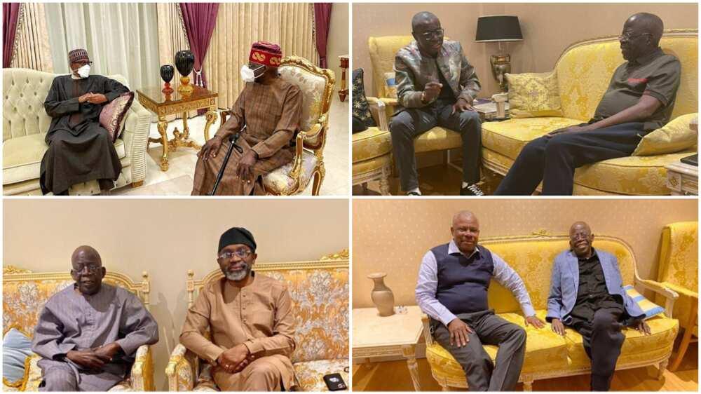 Roll Call: Buhari, Sanwo-Olu, Gbababiamila, Amosun, and Other Politicians Who Have Visited Tinubu in London