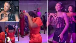 """Reactions as stunning bridesmaids change to second outfit, """"scatter"""" dancefloor with amazing dance steps"""