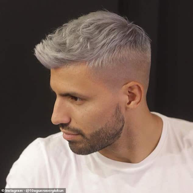 Man City star Aguero shows off new look ahead of Manchester derby