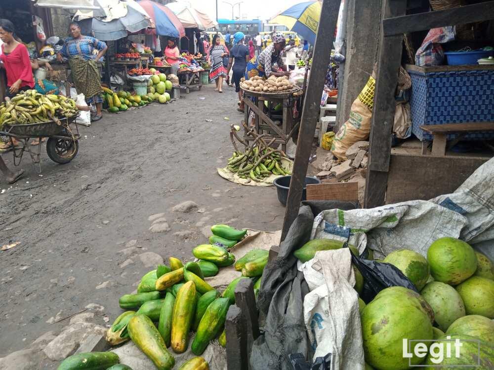 Fruit sellers at Jakande market, Ketu, Lagos. Photo credit: Esther Odili