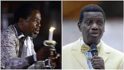 Days after Prophet TB Joshua's burial, Pastor Adeboye sends consoling message to wife