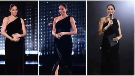 Former Hollywood actress and British royal Meghan Markle spotted with her baby bump at fashion award
