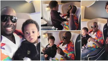 Billionaire Obi Cubana shares photos with actress Regina Daniels and her son on a trip to London
