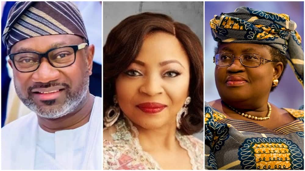 A collage showing the three Nigerians on the list. Photos sources: Wikipedia/Business Year