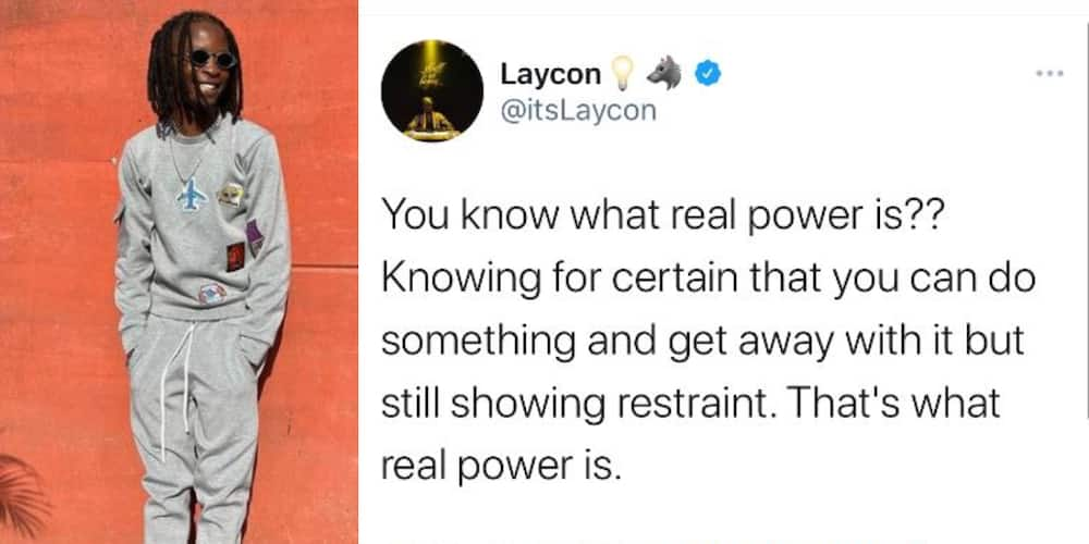 Real Power Is Showing Restraint When You Can Do Something and Get Away With It, BBNaija Star Laycon Says