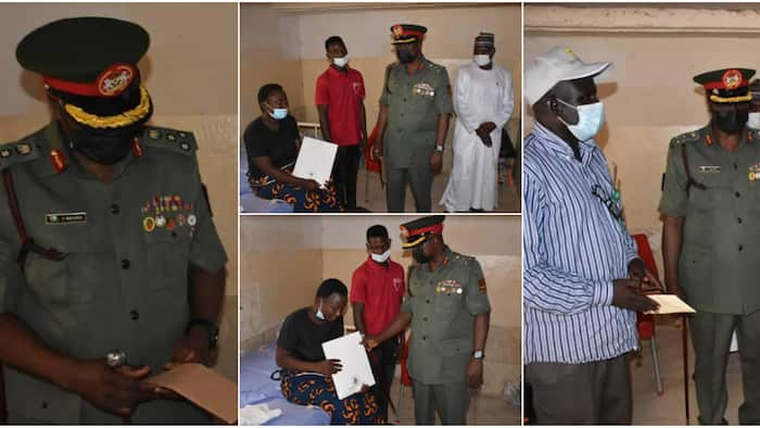 NYSC DG honours corps member with his presence after she gave birth to male twins, adorable photos warm hearts