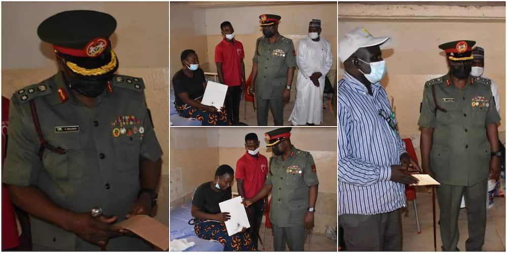 NYSC DG visits corps member who gave birth to twins