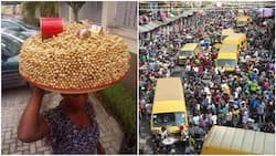 Photo of groundnut seller causes massive stir online, people are amazed at how she arranged her tray