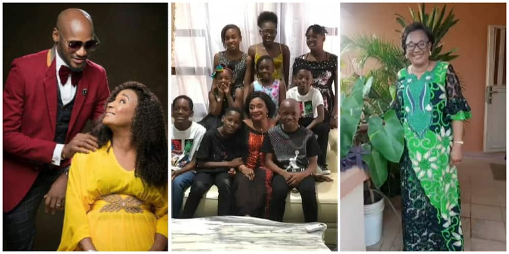 2baba shares rare photo of mother and his children