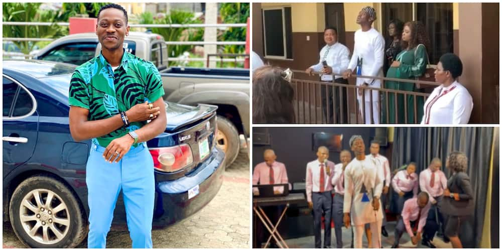 Lateef Adedimeji Sings with Visually Impaired People in Touching Video as He's Set to Play Blind Man