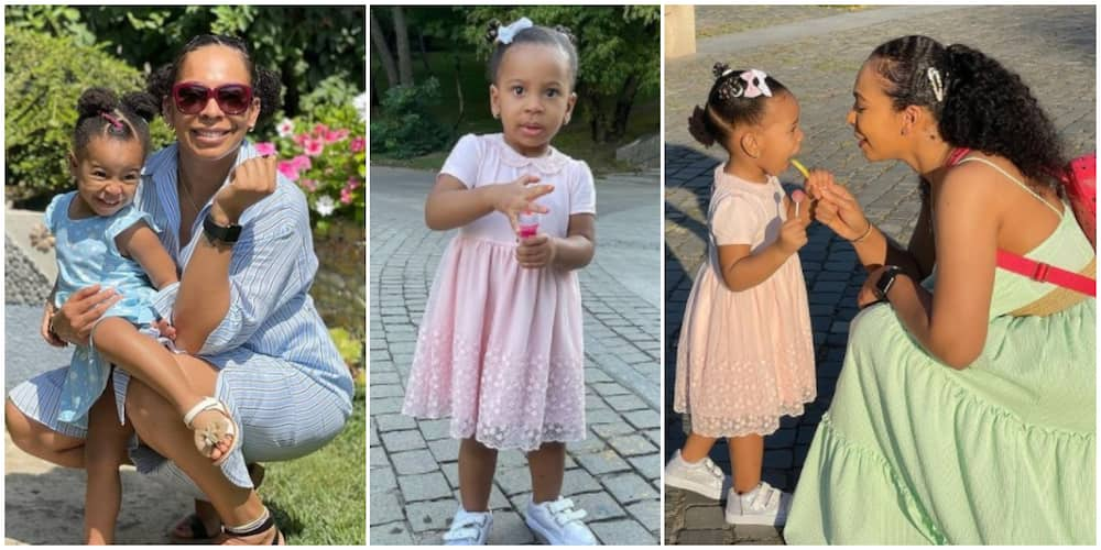 Photos of Tboss and her daughter.