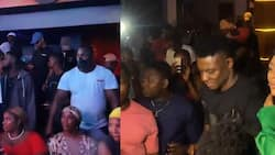 Tiwa Savage makes first appearance after tape scandal, spotted with Dorathy and Super Eagles legend Obafemi Martins