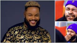 BBNaija: Nigerians react as Whitemoney feels at home, refuses to let bones in his meal go to waste