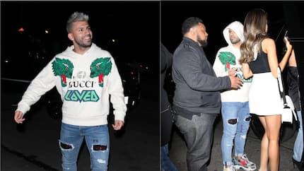 Man City star spotted with 4 stunning girls after leaving nightclub at 2am (photos)