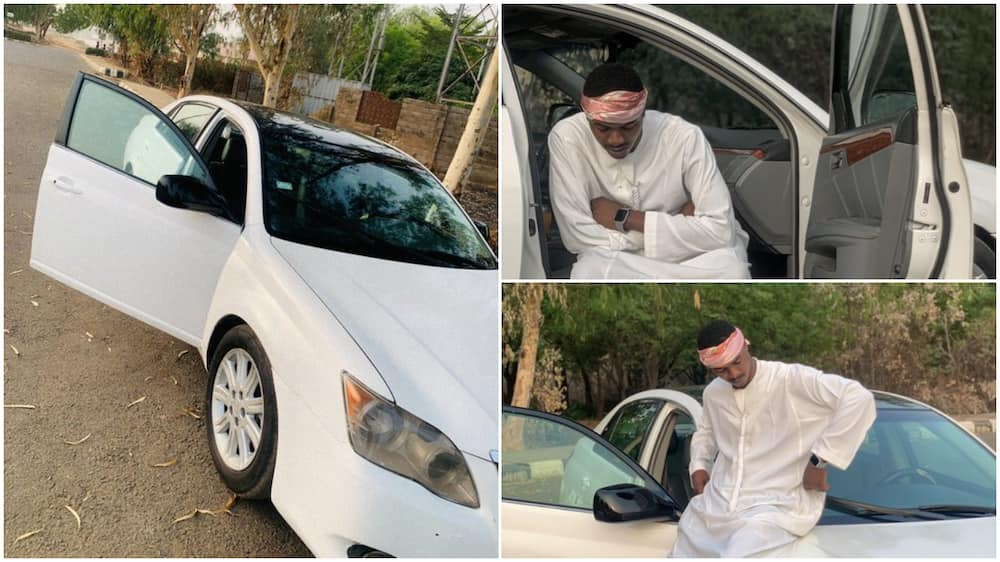 Young Nigerian man buys his first car, shares photos to celebrate, stirs massive reactions