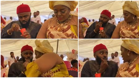 Moment Rita Edochie slapped colleague Longinus for licking cup of ice cream with hand at public event