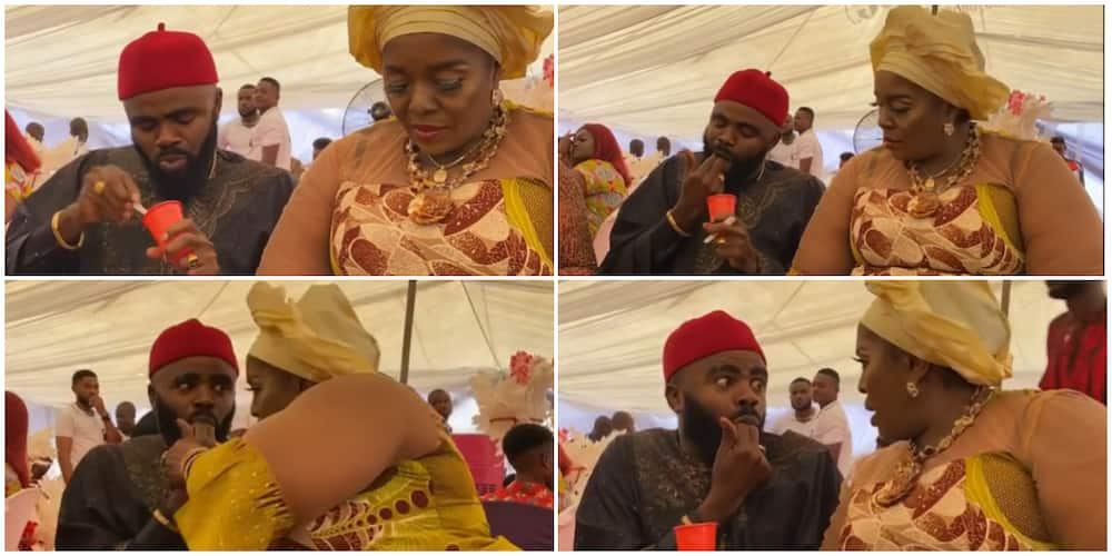 Moment Rita Edochie slapped colleague Longinus at party.