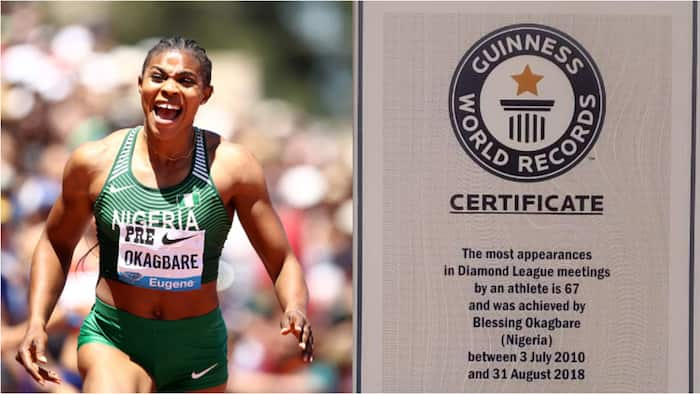 Jubilation as Nigerian athlete overtakes Usain Bolt in Diamond League appearances, receives Guiness World Record award