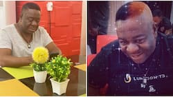 Just like BBNaija's Kiddwaya, Nollywood actor Mr Ibu flaunts new blonde-like look (photo)