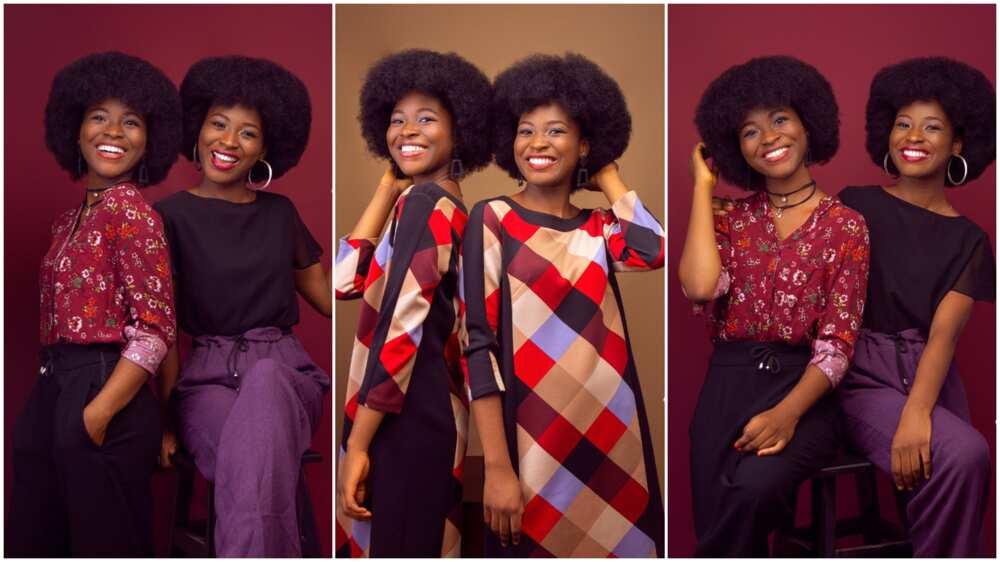 Nigerian twins mark birthday with beautiful photoshoots, Nigerians react