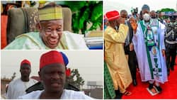 Ganduje reveals why he stepped on Kwankwaso's poster, faces harsh criticisms
