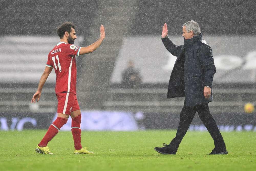Jose Mourinho and Salah