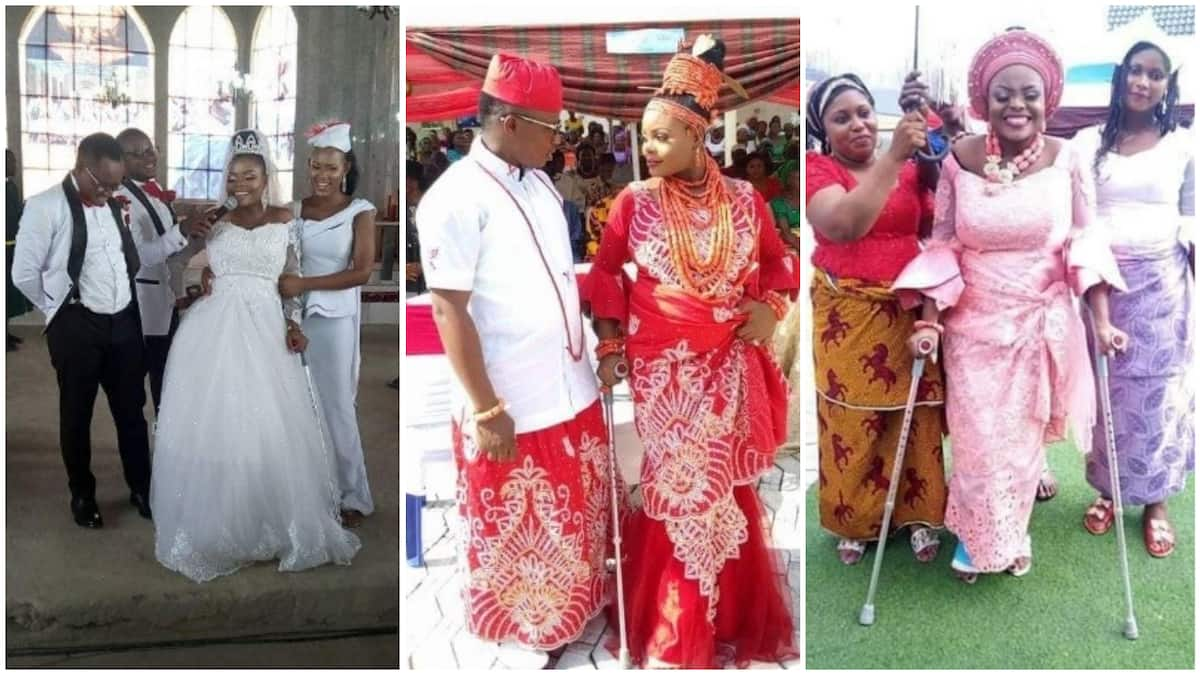 13efb037950 Nigerian lady weds after surviving a fatal accident few days to her wedding  (photos)