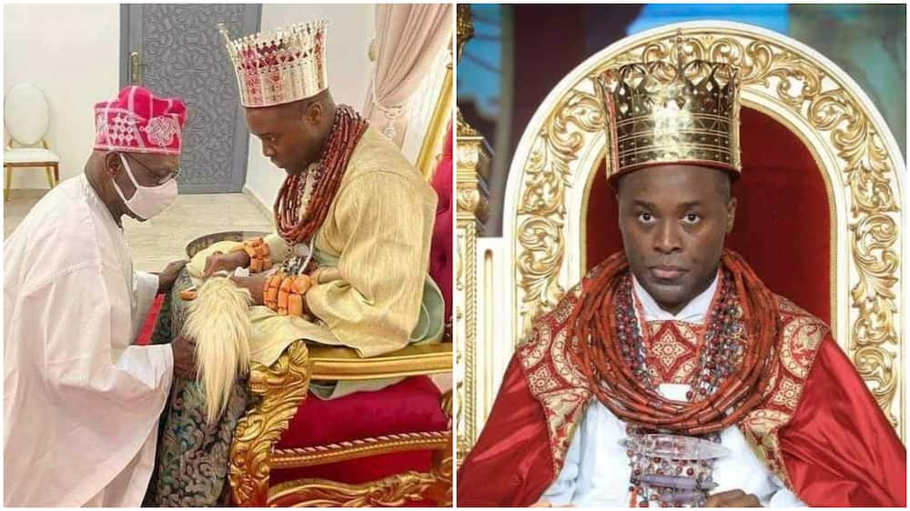 Why Obasanjo Knelt before 37-Year-Old Olu of Warri Kingdom, Former President's Aide Opens Up