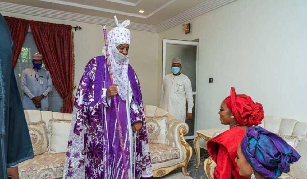 Hotunan bikin auren dan gwamnan Kaduna Nasir El-Rufai, Bashir da amaryarsa Halima