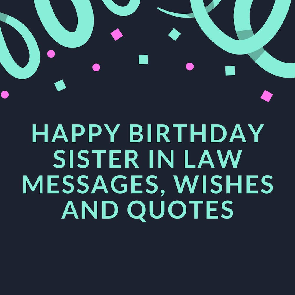 What can I write to my sister in law?