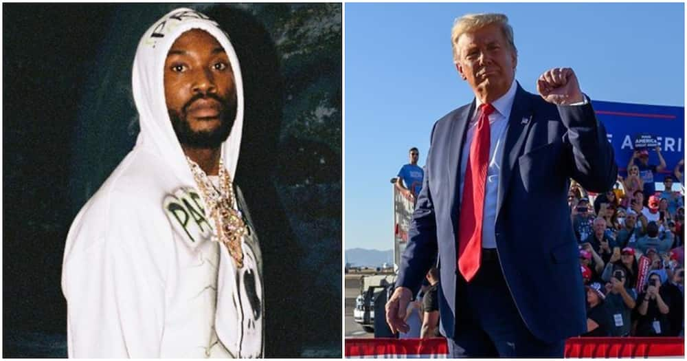 Rapper Meek Mill accuses Trump of brainwashing as he reacts to video of Nigerian supporters