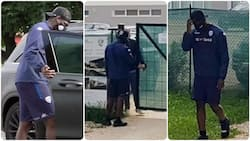 Controversial footballer denied entry to training ground after fighting with his club president (photos)