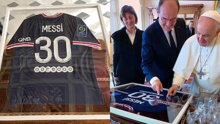 PSG superstar Lionel Messi sends stunning and adorable gift to Pope Francis