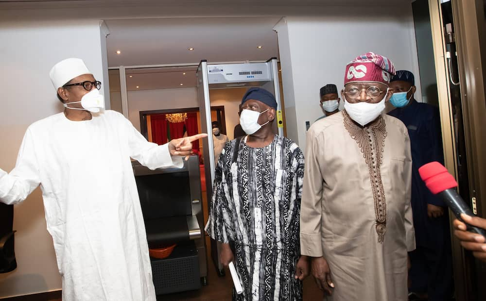Uncertainty as President Buhari holds meeting with Bola Tinubu