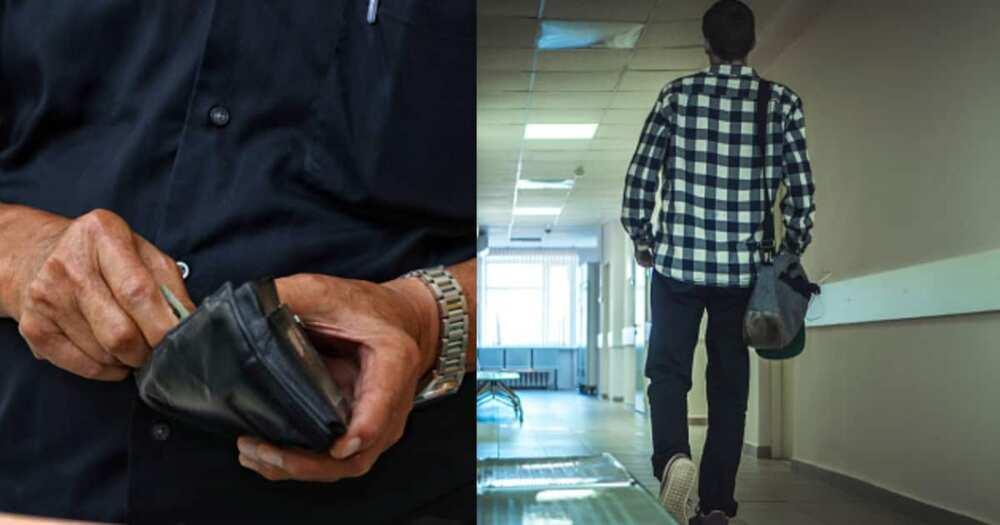 Ghanaian man walks into Hospital