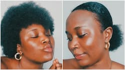 Nigerian lady showcases her natural hair without attachments, photos go viral
